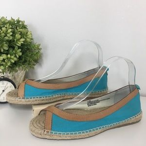 Tommy Bahama NEW Violine Turquoise Espadrille 7.5